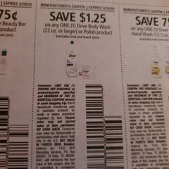 10 Coupons $1.25/1 Dove Body Wash (22oz+) or Polish Product Exp.3/29/20