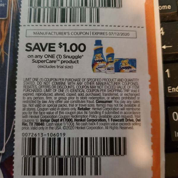 10 Coupons $1/1 Snuggle SuperCare Product Exp.7/12/20