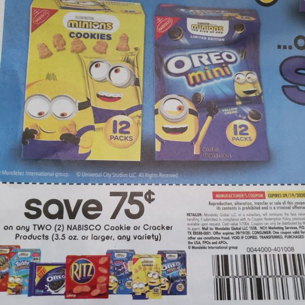 10 Coupons $.75/2 Nabisco Cookie or Cracker Products (3.5oz+) Exp.9/19/20