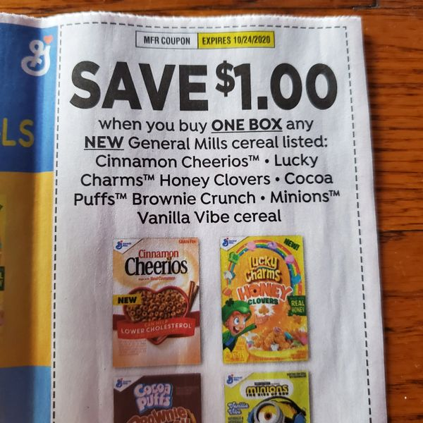 10 Coupons $1/1 General Mills Cereal Listed (SEE PIC) Exp.10/24/20