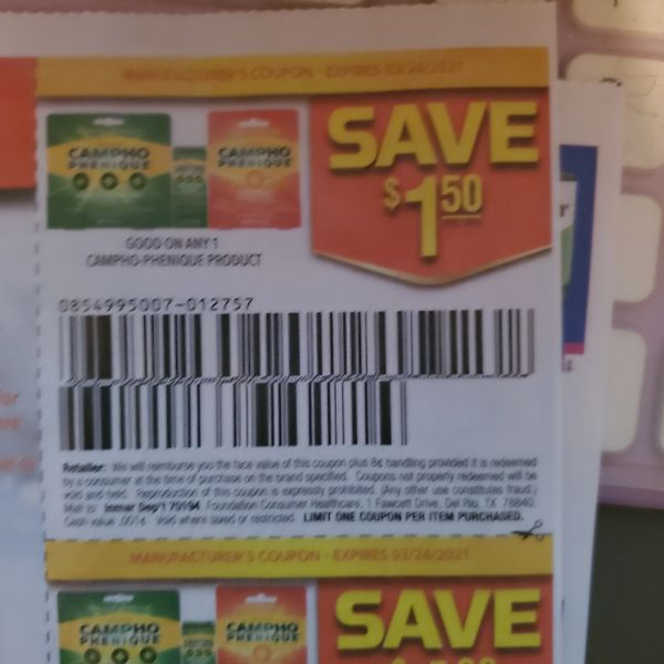 10 Coupons $1.50/1 Campho-Phenique Products Exp.3/24/21