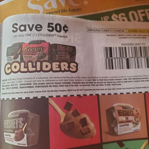 10 Coupons $.50/1 Colliders Dessert Exp.6/21/21