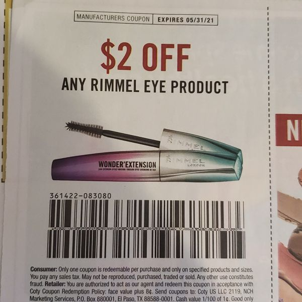10 Coupons $2/1 Rimmel Eye Product Exp.5/31/21