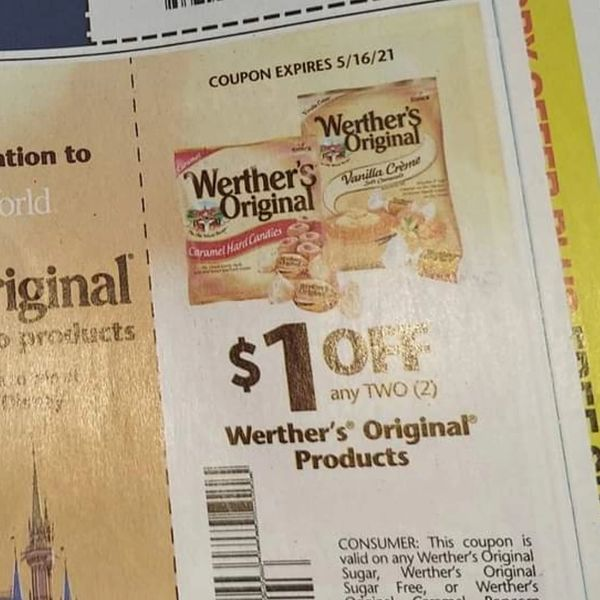 10 Coupons $1/2 Werther's Original Products Exp.5/16/21