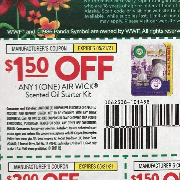 10 Coupons $1.50/1 Air Wick Scented Oil Starter Kit 5/21/21