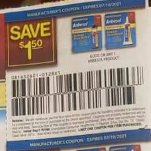 10 Coupons $1.50/1 Anbesol Product Exp.7/10/21