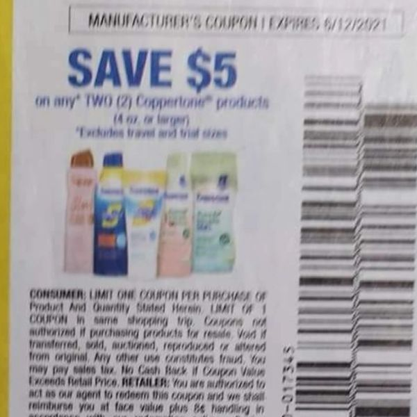 10 Coupons $5/2 Coppertone Products (4oz+) Exp.6/12/21