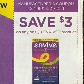 10 Coupons $3/1 Envive Product Exp.8/31/21