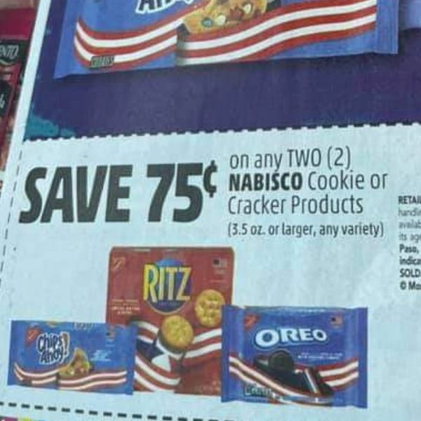 10 Coupons $.75/2 Nabisco Cookie or Cracker Products (3.5oz+) Exp.8/7/21