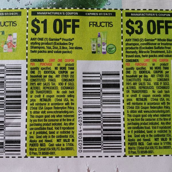 10 Coupons $1/1 Garnier Fructis Styling Product Exp.7/24/21