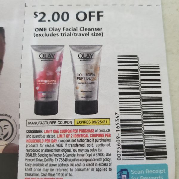 10 Coupons $2/1 Olay Facial Cleanser Exp.9/25/21