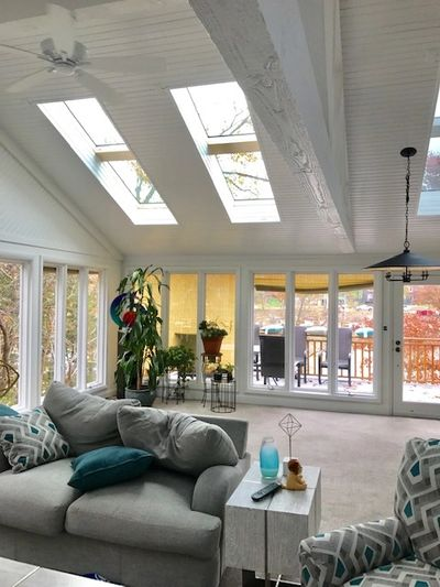 VELUX fixed combination skylights in great room in Kansas City