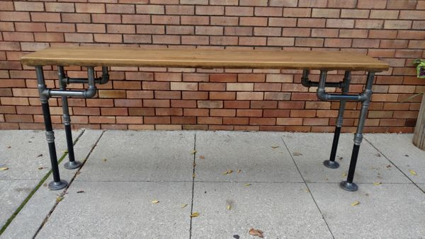 Astounding Industrial Pipe Entry Way Table Machost Co Dining Chair Design Ideas Machostcouk