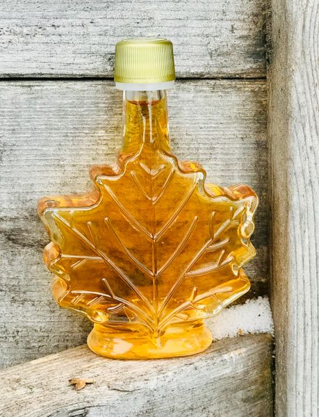 100 ML Maple Syrup in Glass Leaf Container