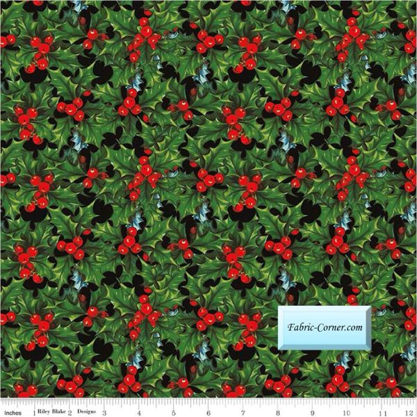 Penny Rose ~ Joyous Christmas ~ 100/% Cotton ~ Priced By The 1//2 yard