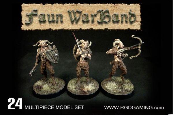 Faun Warband (26 hard plastic miniatures)