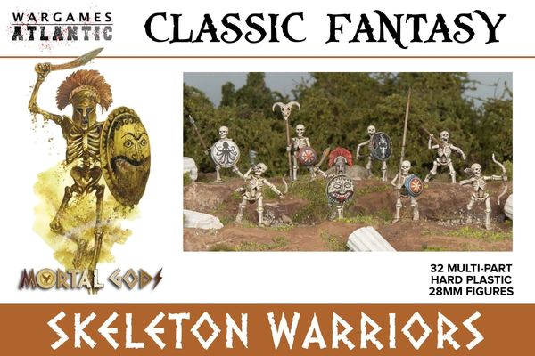 Wargames Atlantic Skeleton Warriors (32 Models)