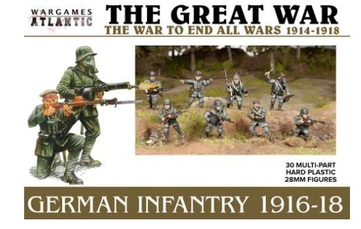 German Infantry (1916-1918) (30 Hard Plastic Models)