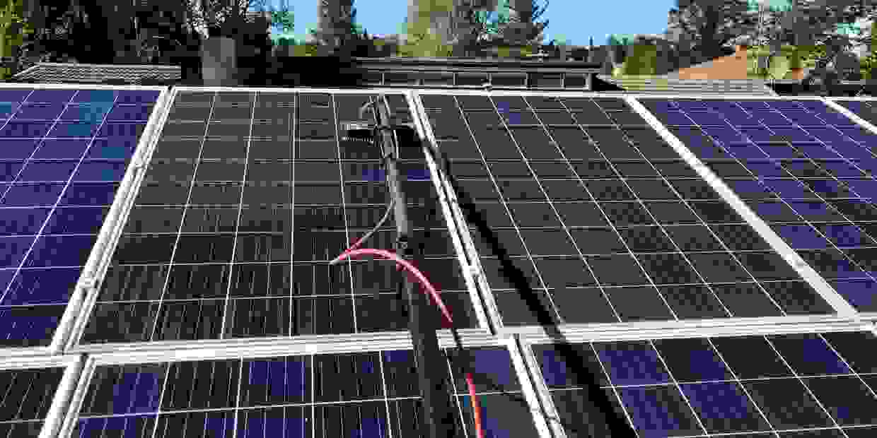 Solar panel cleaning residential