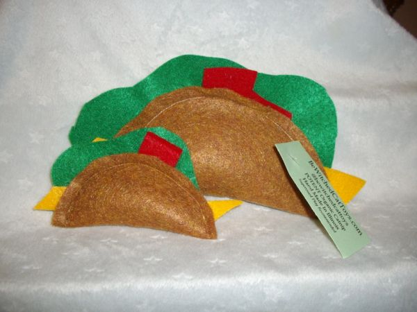 2 MINI Organic Catnip Tacos