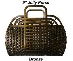"The ORIGINAL 9"" Retro Jelly Purse by Fashion Jellies, Bronze"