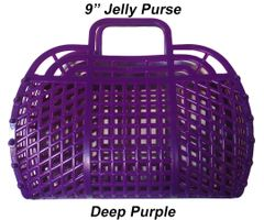 "The ORIGINAL 9"" Retro Jelly Purse by Fashion Jellies, Deep Purple"