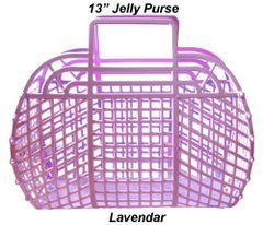 "The ORIGINAL 13"" Retro Jelly Purse by Fashion Jellies, Lavendar"