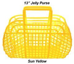 "The ORIGINAL 13"" Retro Jelly Purse by Fashion Jellies, Sun Yellow"