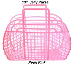 "The ORIGINAL 13"" Retro Jelly Purse by Fashion Jellies, Pearl Pink"