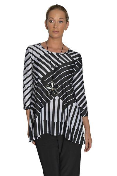 Black and White Striped Tunic