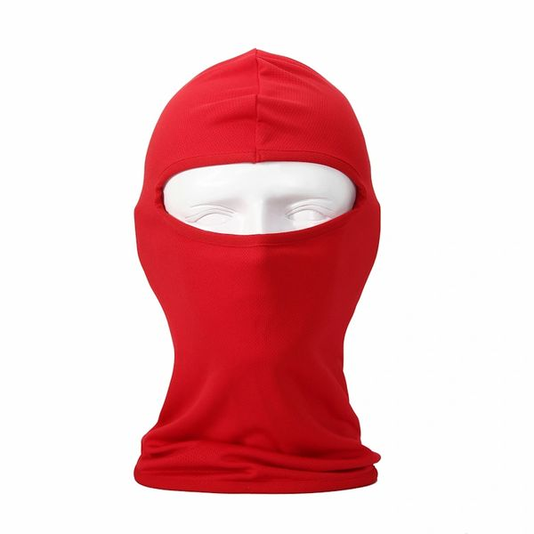 Red Balaclava Face Mask Multi-Use Hoodie
