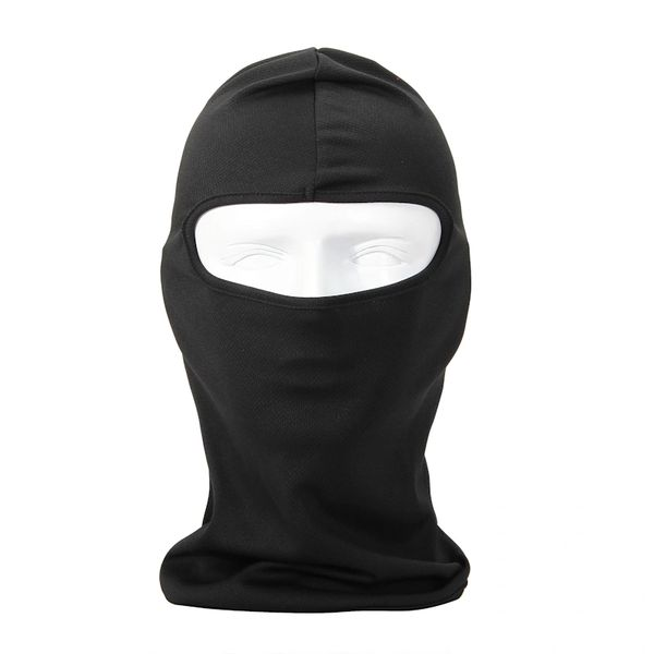 Black Balaclava 40UPF, Protects Against Sun, Wind, and Dust.