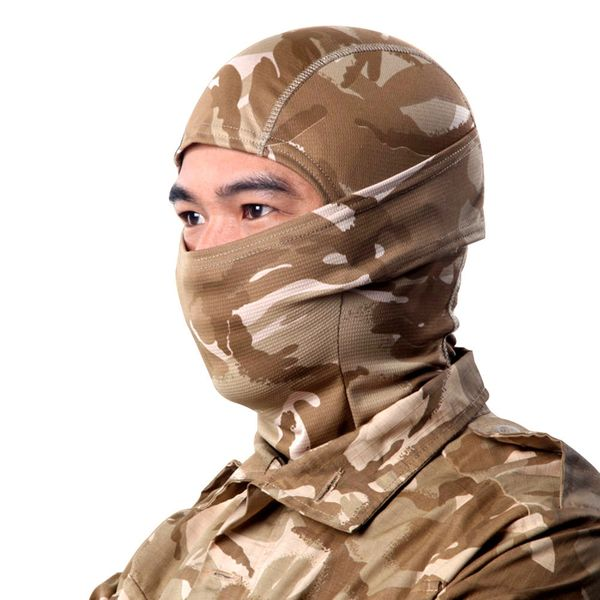 Old School Camo Brown Multi-Use Balaclava Shield