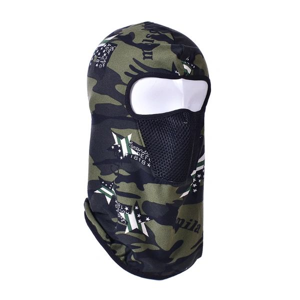Hoodie camo USA star with filter MCFT04