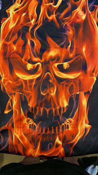 Full flaming skull ultra drinks fit