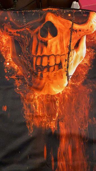 Half fire skull ultra premium shield