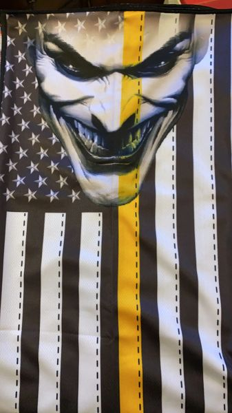 Blackout American Flag yellow stripe