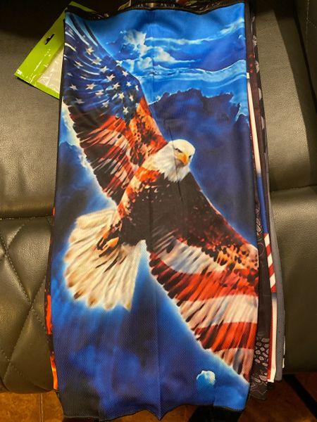 Flying Bald Eagle flag