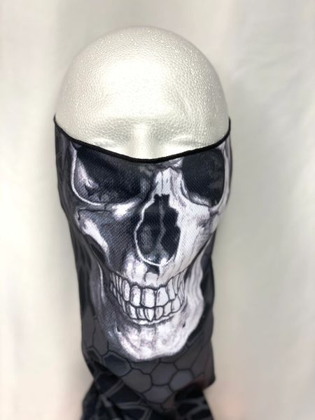 White Skull Face Shield