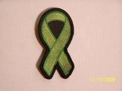 LIME GREEN RIBBON LYME DISEASE, KIDNEY CANCER...AWARENESS
