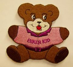 BIKER KID TEDDY BEAR WITH PINK SHIRT