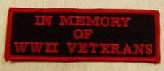 IN MEMORY OF WWII VETERANS