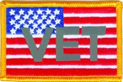 AMERICAN FLAG WITH VET