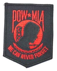POW/MIA WE CAN NEVER FORGET BLACKRED