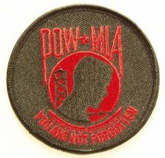 POW MIA RED & BLACK ROUND
