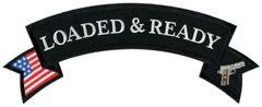 LOADED & READY ROCKER (US FLAG & GUN)