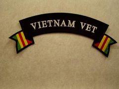 VIETNAM VET with Campaign Ribbon (Rocker)