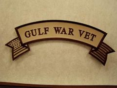 GULF WAR VET W/ AMERICAN FLAG SUBDUED (ROCKER)