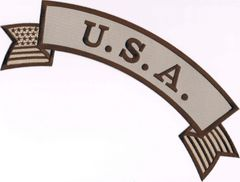 """U.S.A."" W/ AMERICAN FLAG SUBDUED (ROCKER)"