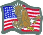 US FLAG WITH EAGLE (SMALL)